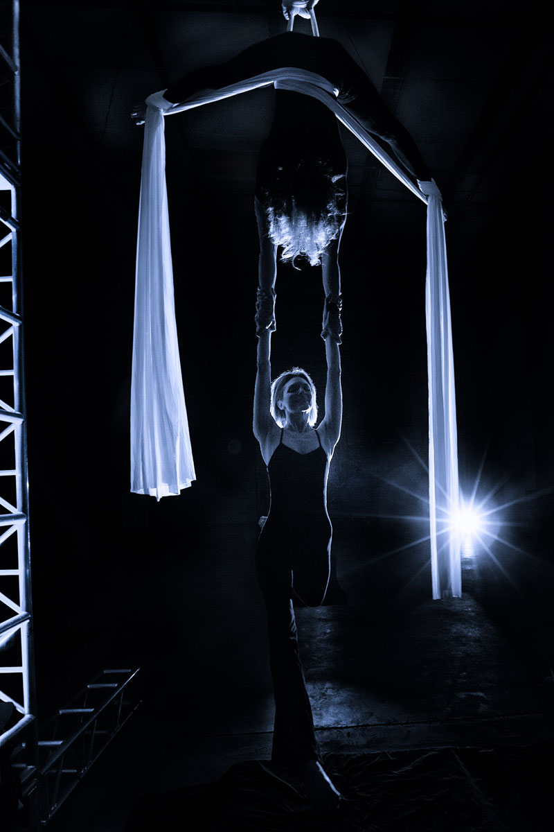 Aerial Silks Performers Duo