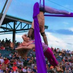 Aerial Silks Duo Hand to Hand Act in Charleston SC