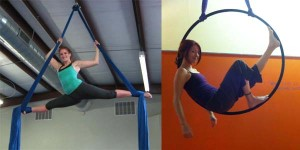 Aerial Fit Classes on Aerial Silks, Aerial Hoop, and Static Trapeze
